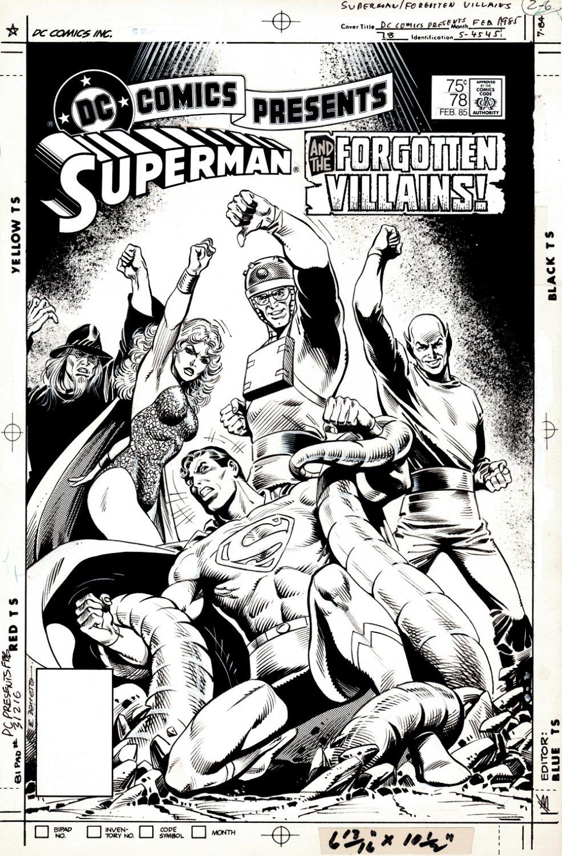 DC Comics Presents #78 Cover (Superman & The Forgotten Villains!) 1984