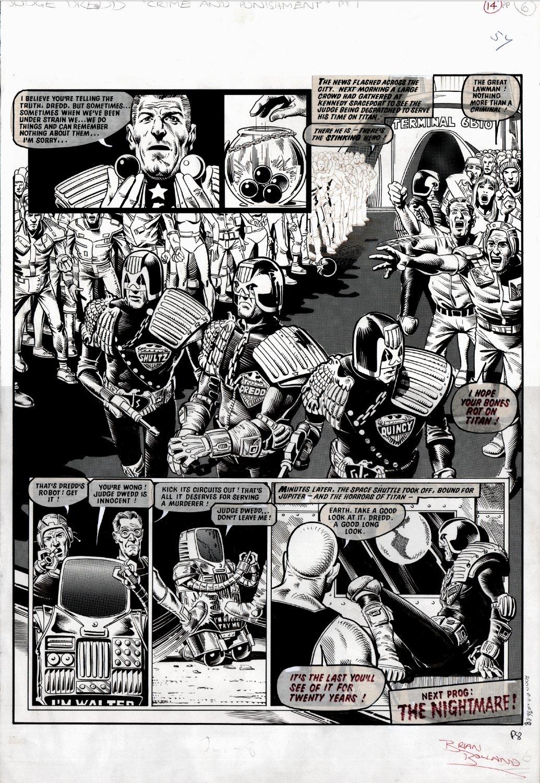 2000 AD #86 p 8 (2/3 SPLASH ALL DREDD!) 1978