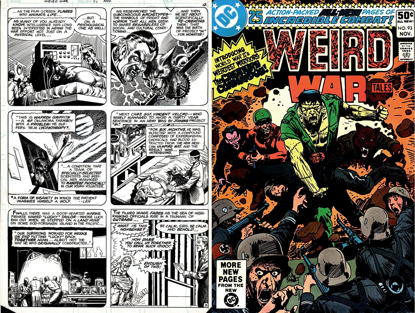 Weird War Tales #93 p 3 (SOLD LIVE ON 'DUELING DEALERS OF COMIC ART' EPISODE #31 PODCAST ON 8-14-2021(RE-WATCH THIS FUNNY ART SELLING SHOW HERE)