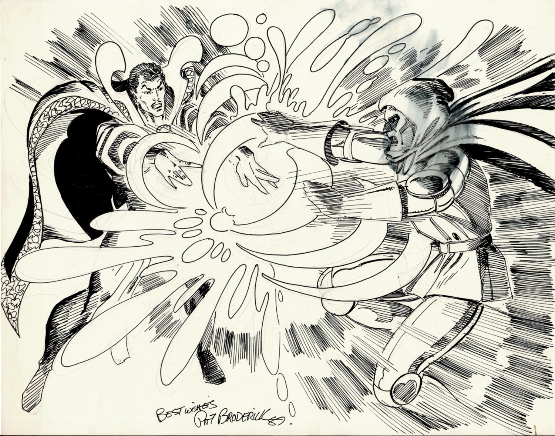 Dr. Strange vs Dr. Doom Pinup (1987)