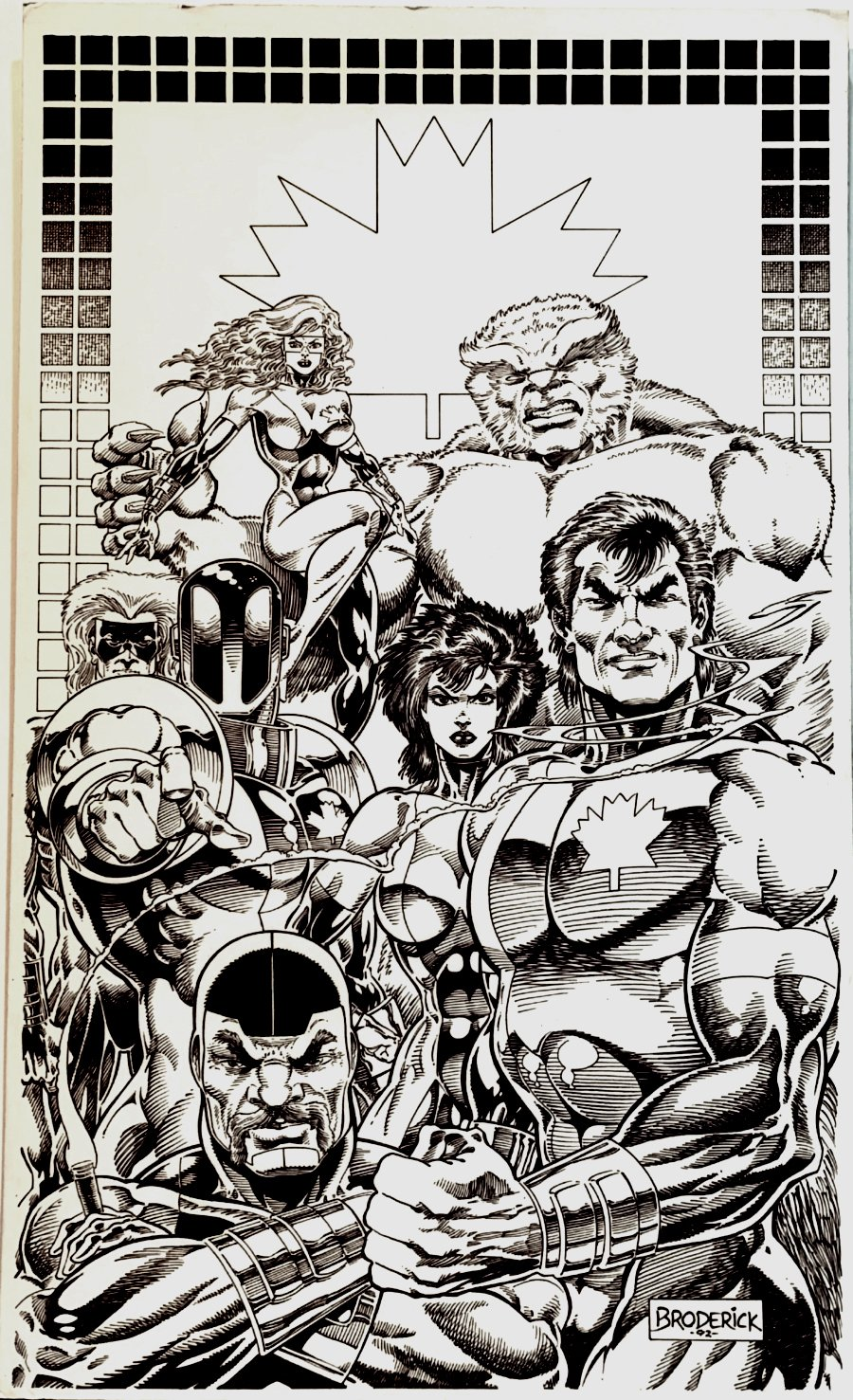 Alpha Flight Published Poster! (7 TEAM MEMBERS! CANADA WANTS YOU!) Large Art - 1992