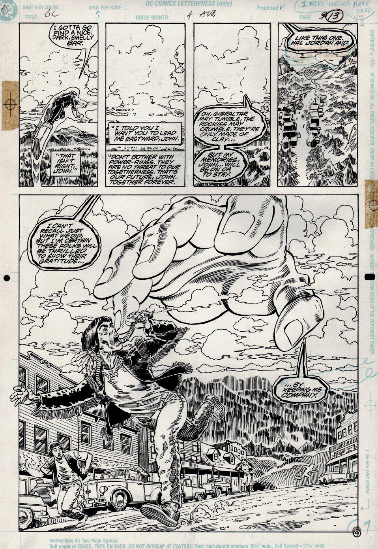 Green Lantern #4 p 9 SPLASH (1990)