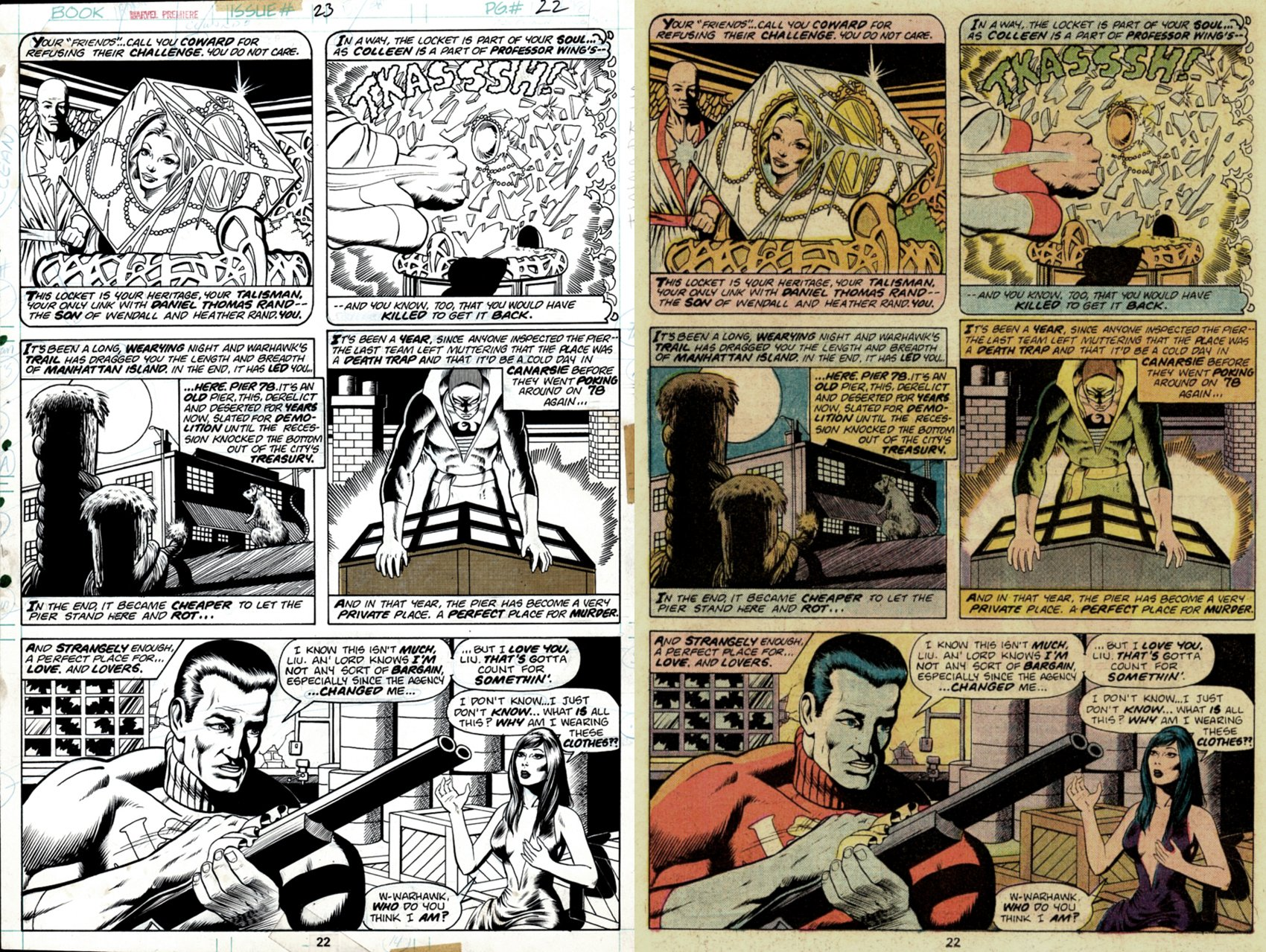 Marvel Premiere #23 p 22 (SOLD LIVE ON 'DUELING DEALERS OF COMIC ART' EPISODE #26 PODCAST ON 7-21-2021 (RE-WATCH THIS FUNNY ART SELLING SHOW HERE)
