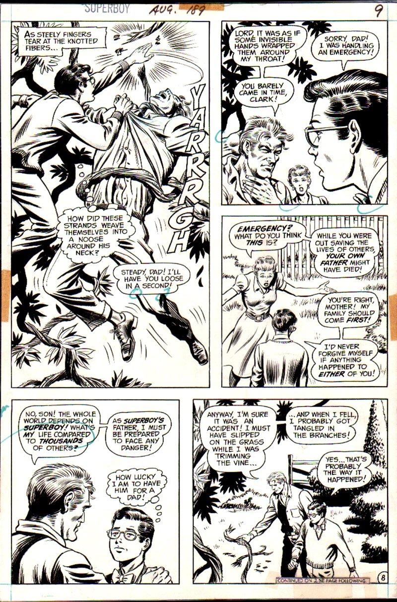 Superboy #189 p 8 (Superboy Saves Pa Kent!) 1972)