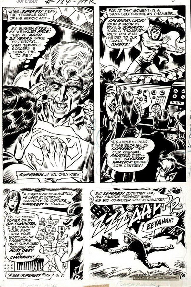 Superboy #184 p 8 (SUPERBOY GETS SUPER OLD!) 1971