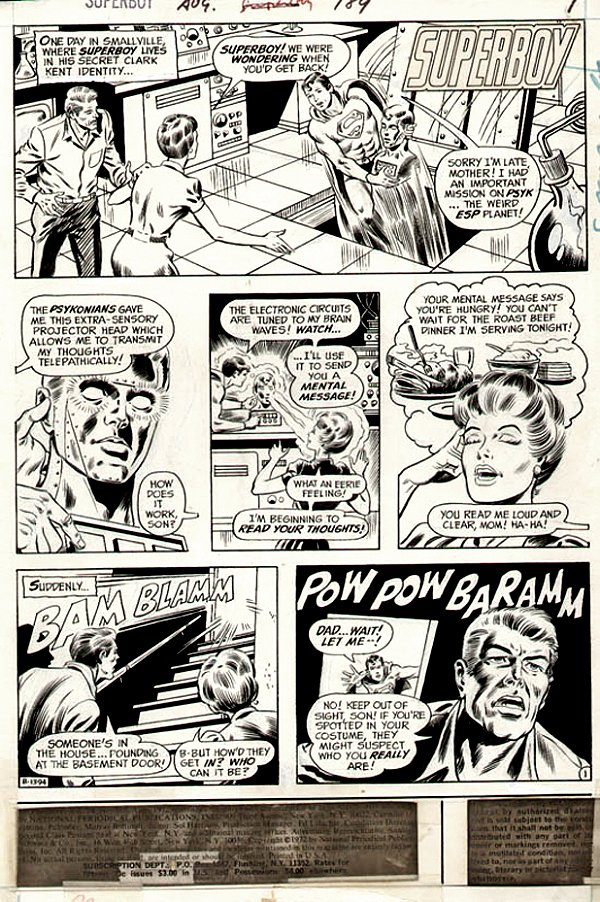 Superboy #189 p 1 (Superboy, Ma & Pa Kent!) 1972)