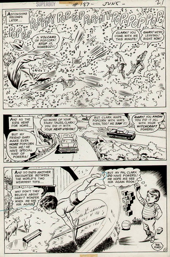 Superboy #187 p 7 (Superbaby Action Page!) 1972