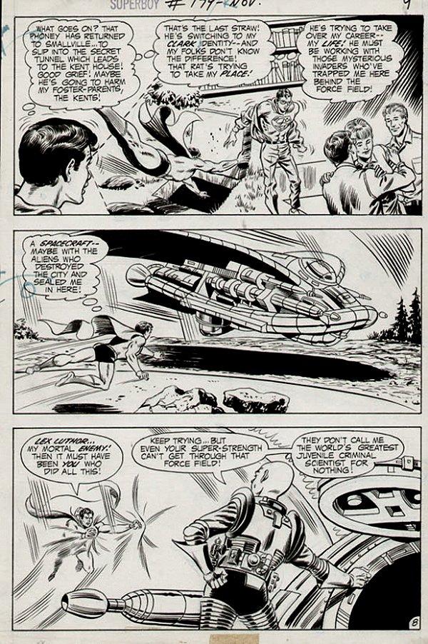 Superboy #179 p 8 (SUPERBOY Battles Lex Luthor!) 1971