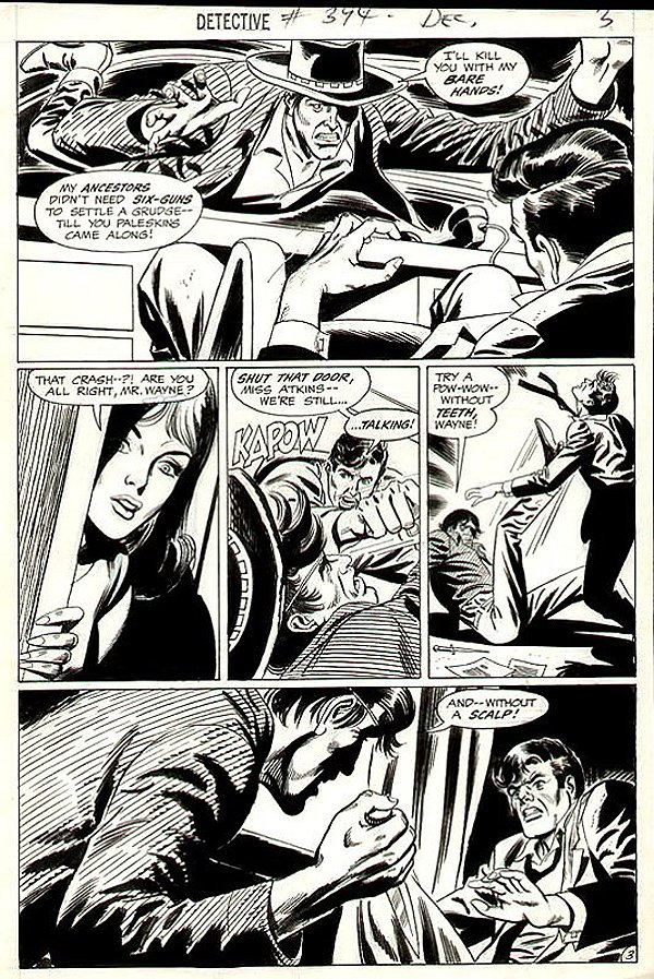 Detective Comics #394 p 3 (Batman Out Of Costume Battling!) 1969)