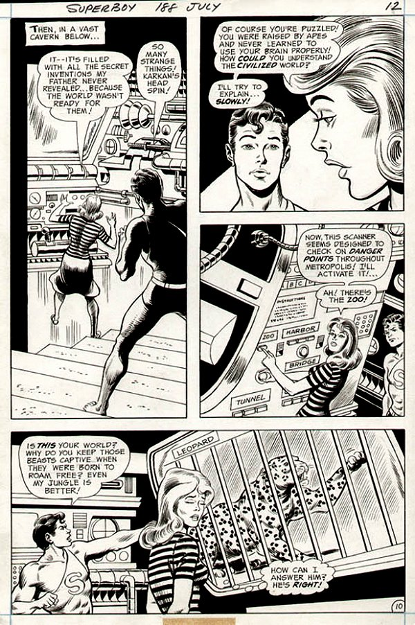 Superboy #188 p 10 (SUPERBOY IN EVERY PANEL!) 1972