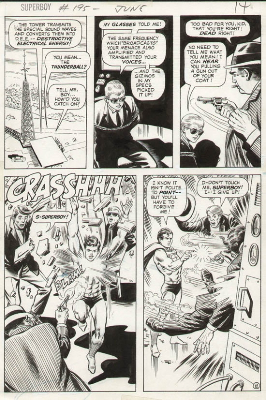 Superboy #195 p 12 (Great Superboy Battle Page!) 1973