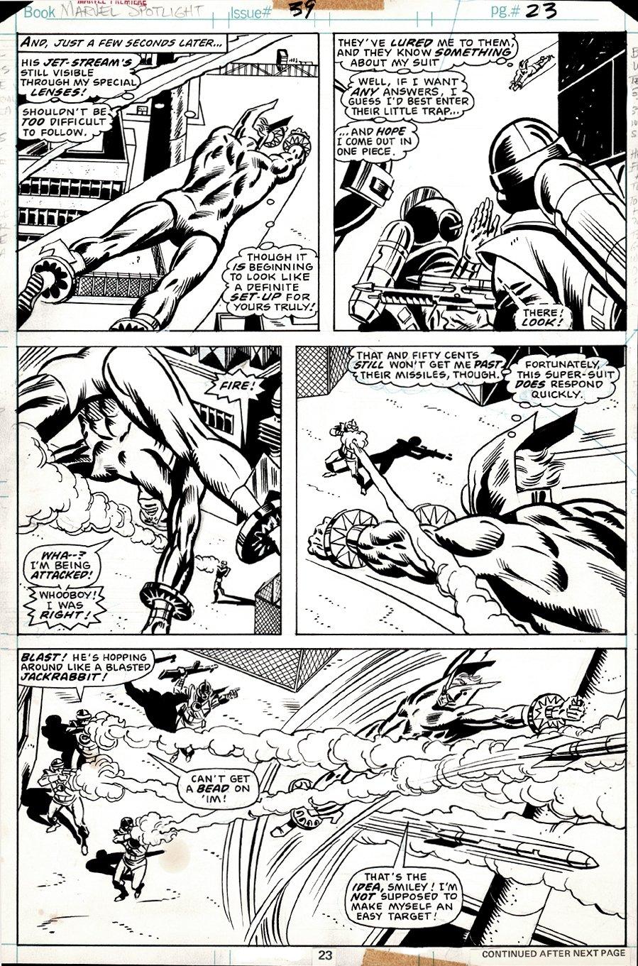 Marvel Premiere #39 p 23 (TORPEDO BATTLE PAGE!) 1977