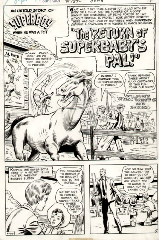 Superboy #187 p 1 SPLASH (1972)