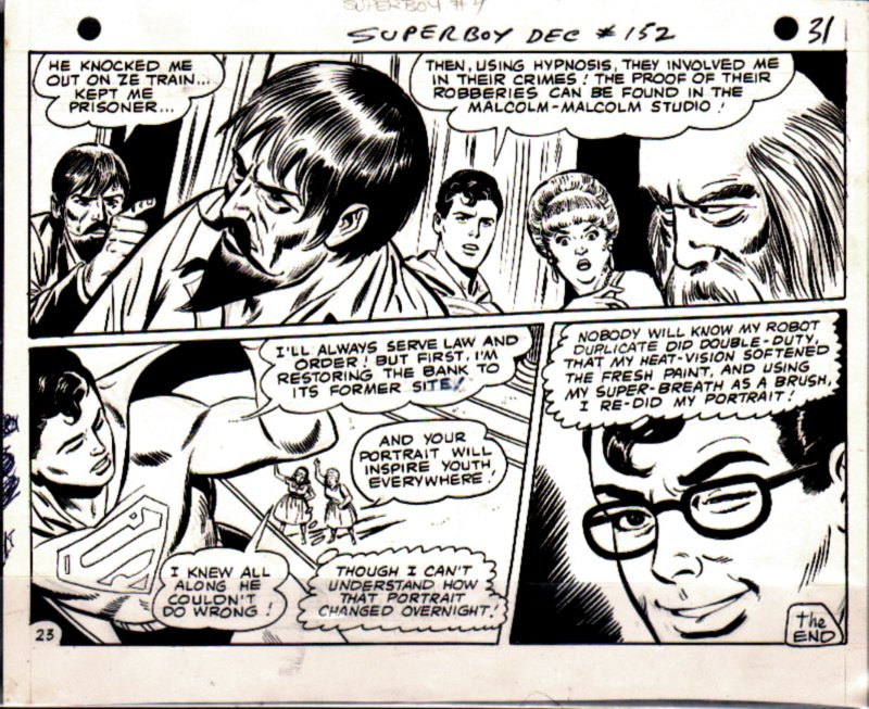 Superboy #152 p 23 (Last Page Of Story, Superboy Wink!) 1968
