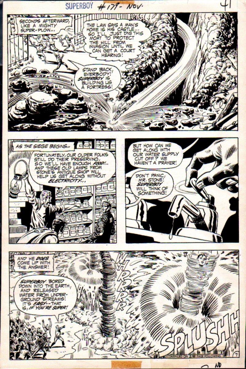 Superboy #179 p 7 (Superboy Builds A Fortress!) 1971