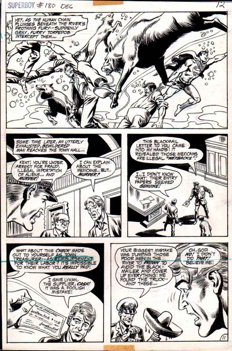 Superboy #180 p 11 (SUPERBOY SAVING PEOPLE FROM WOLVES!) 1971