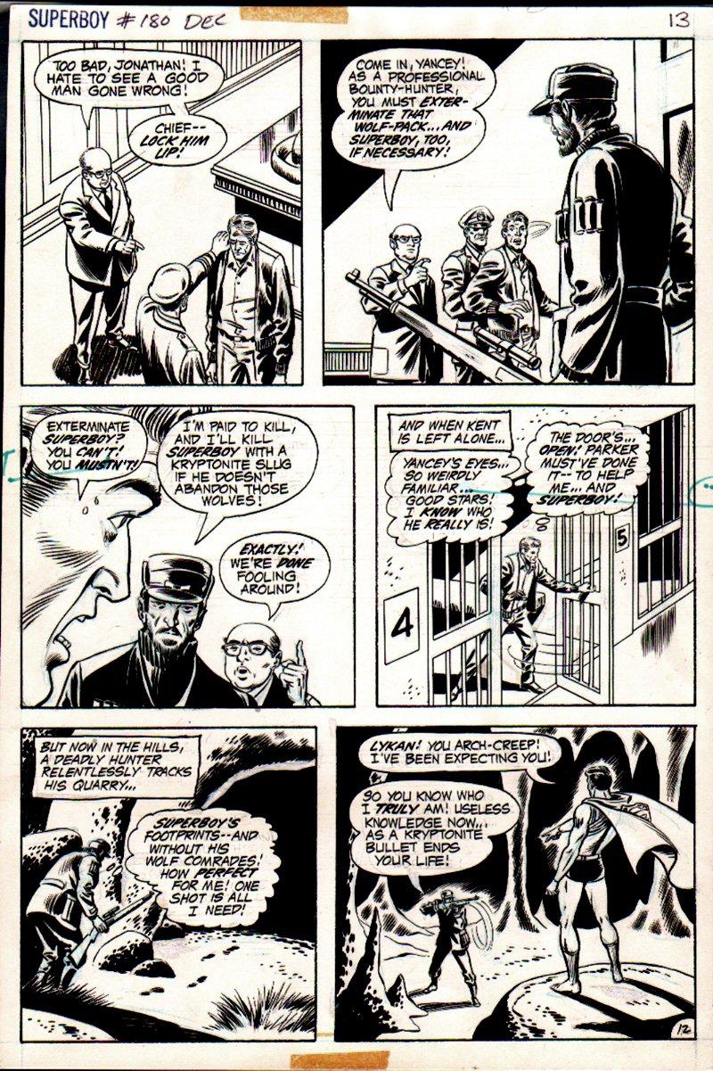 Superboy #180 p 12 (SUPERBOY SHOT WITH KRYPTONITE BULLET!) 1971