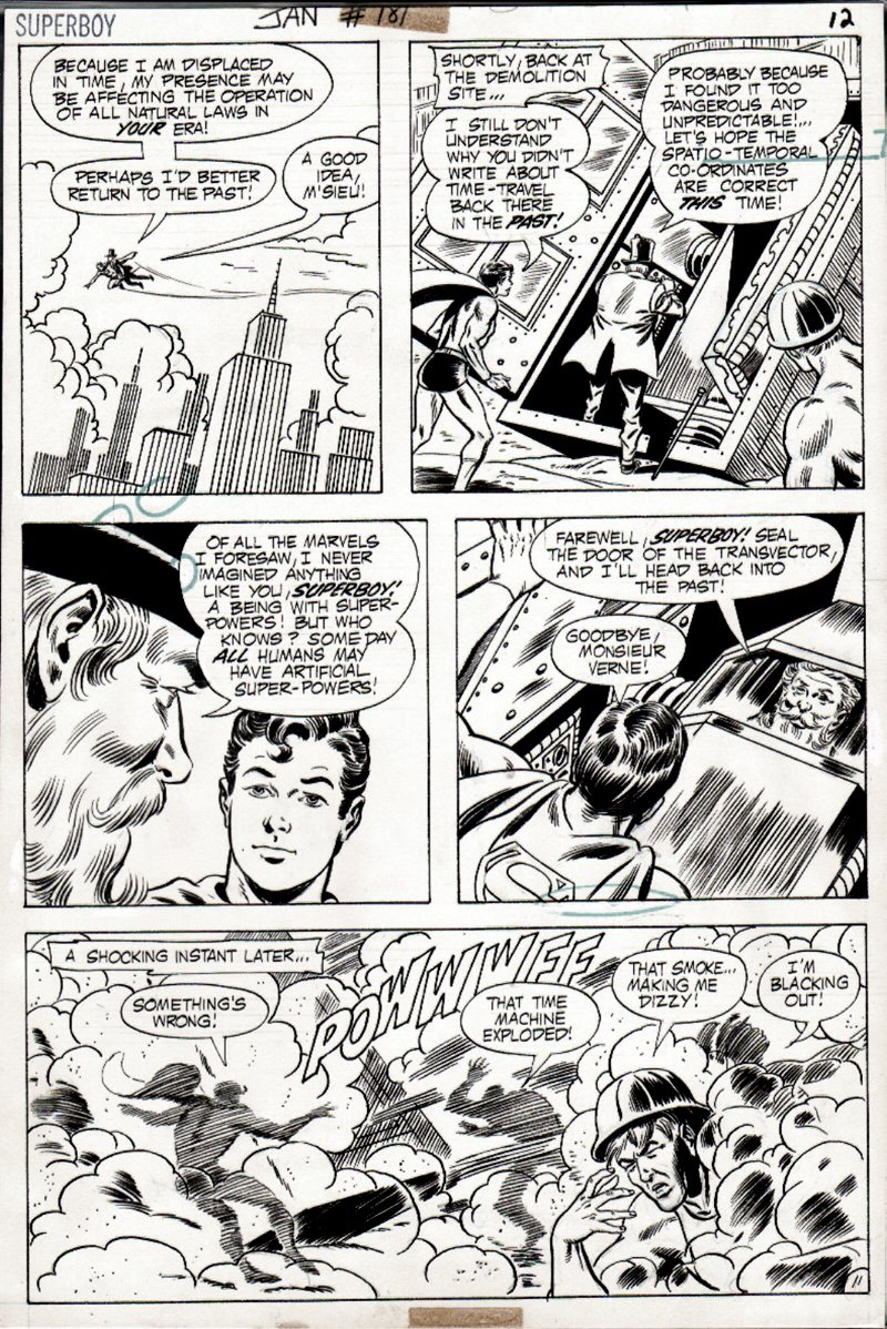 Superboy #181 p 11 (SUPERBOY IN EVERY PANEL!) 1971