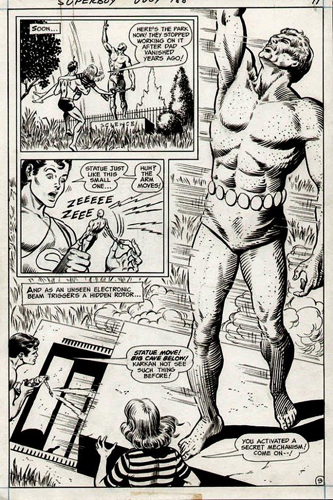 Superboy #188 p 9 SEMI-SPLASH (1972)