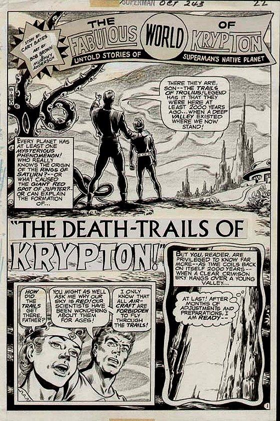 Superman #243 p 1 SPLASH (1971)