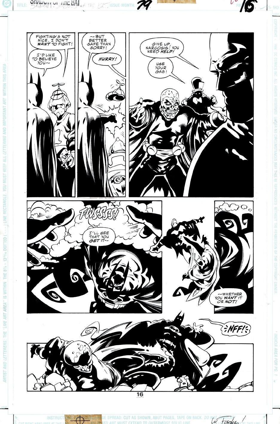 Batman: Shadow of the Bat #79 p 16 (Batman Battles Mad Hatter & Narcosis!) 1998