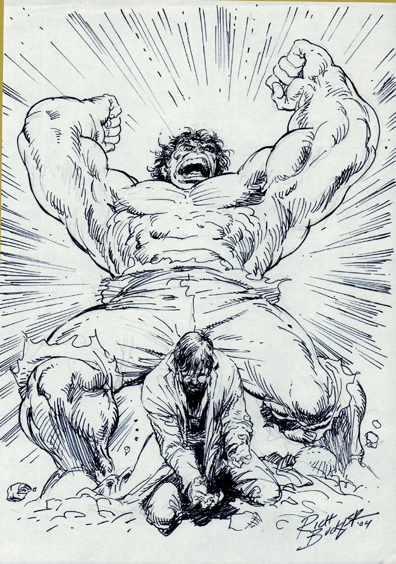 Incredible Hulk #223 Cover Recreation (2004)