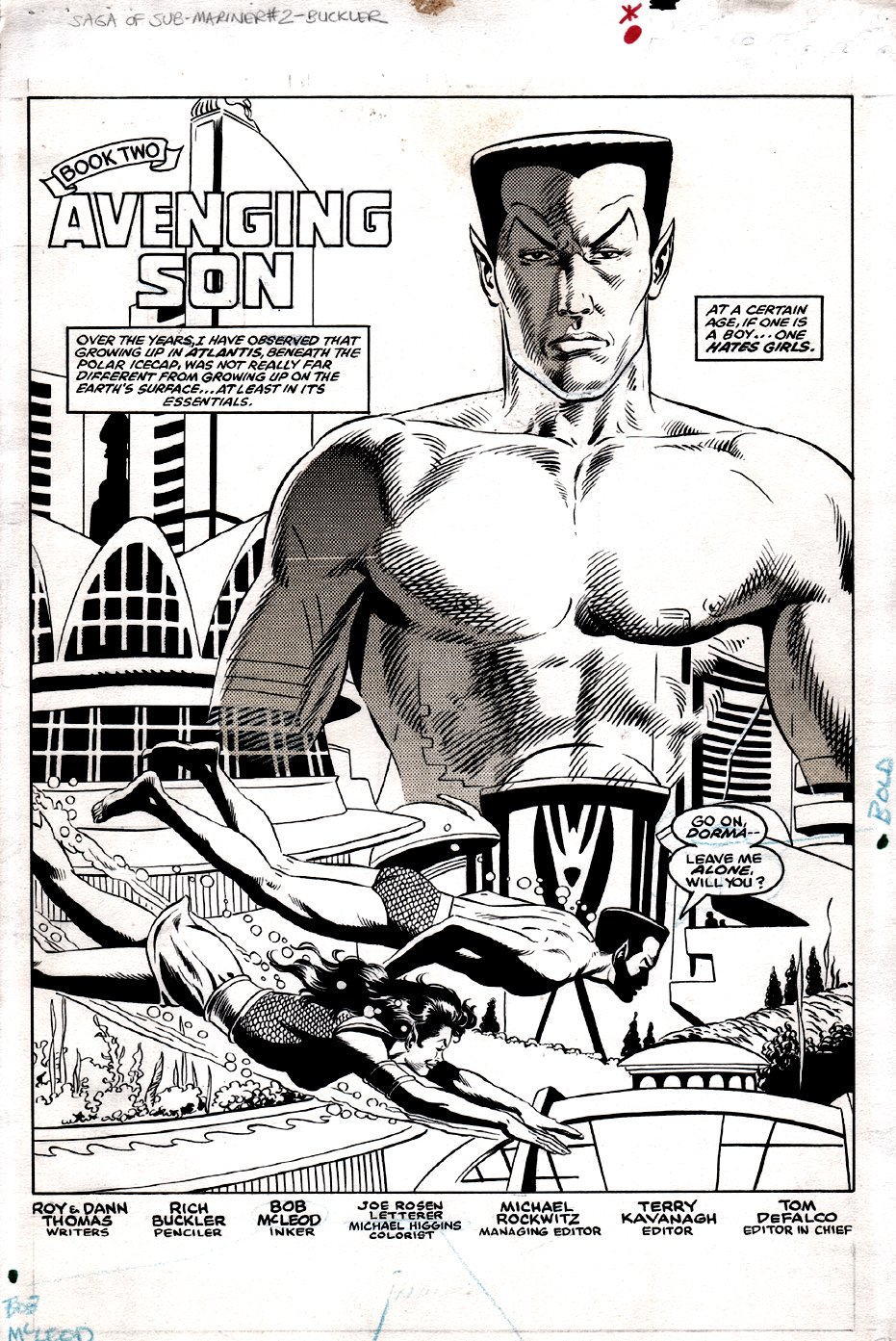 Saga of the Sub-Mariner #2 p 1 SPLASH (1988)