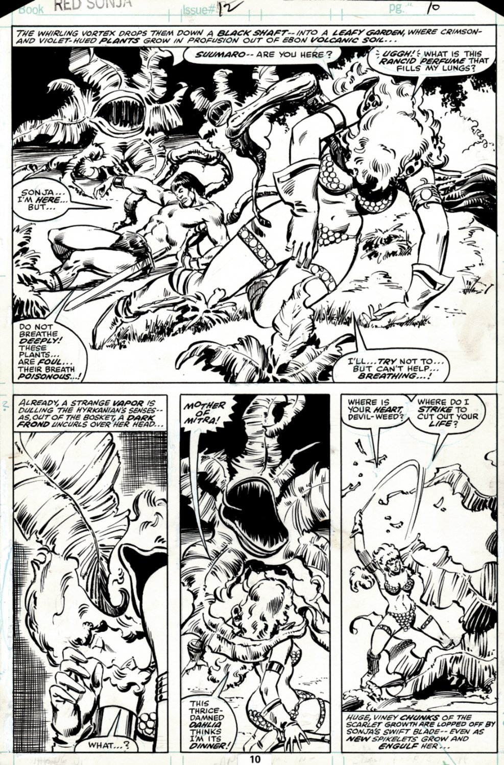Red Sonja #12 p 10 SOLD LIVE ON 'DUELING DEALERS EPISODE #36 PODCAST ON 9-15-2021 (RE-WATCH THIS FUNNY ART SELLING SHOW HERE)