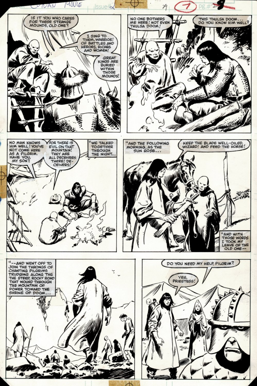 Conan Movie Special #2 p 29 (SOLD LIVE ON 'DUELING DEALERS OF COMIC ART' EPISODE #38 PODCAST ON 9-29-2021)