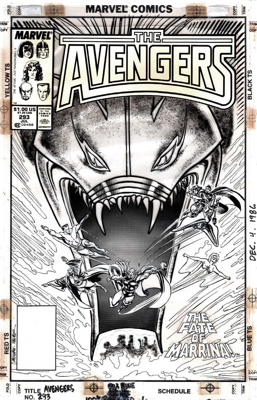 Avengers #293 Cover (6 AVENGERS DRAWN!) 1988