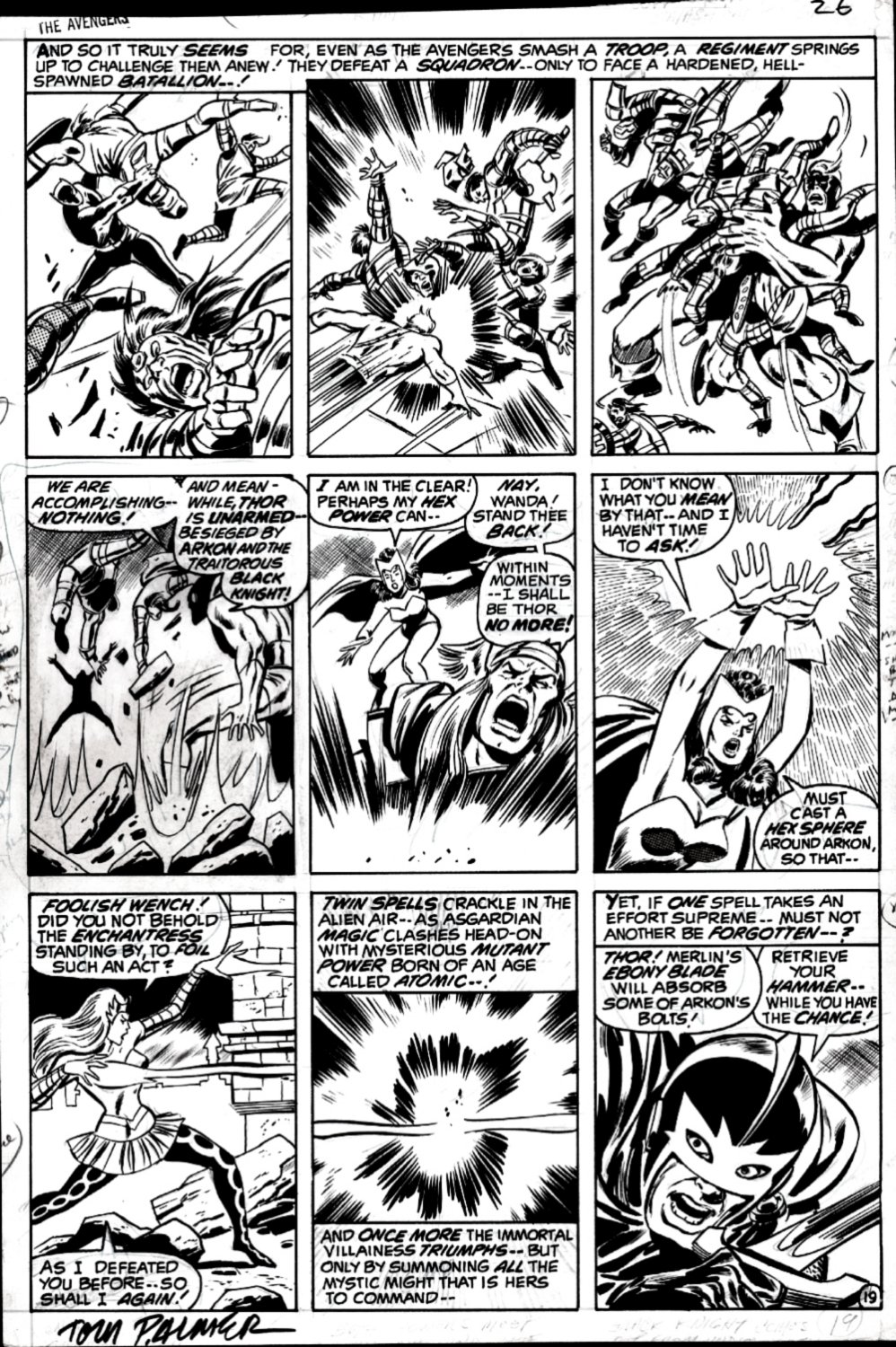 Avengers #84 p 19 (EVERY PANEL AVENGERS BATTLING PAGE!) 1970