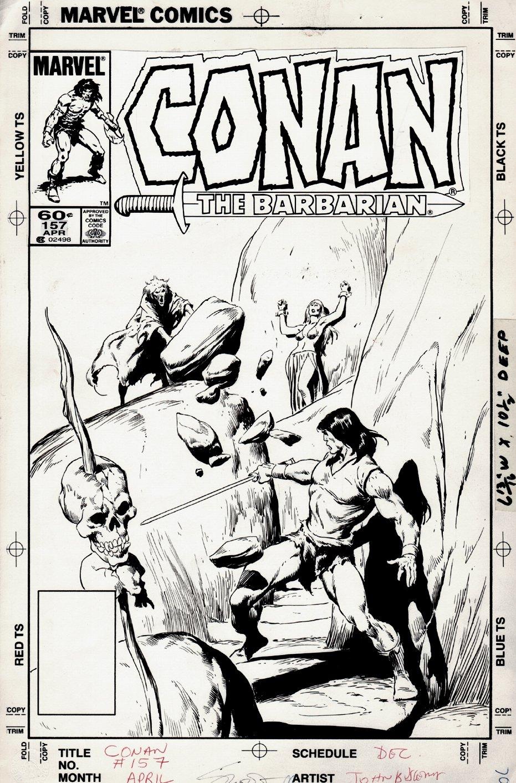Conan the Barbarian #157 Cover (1984)