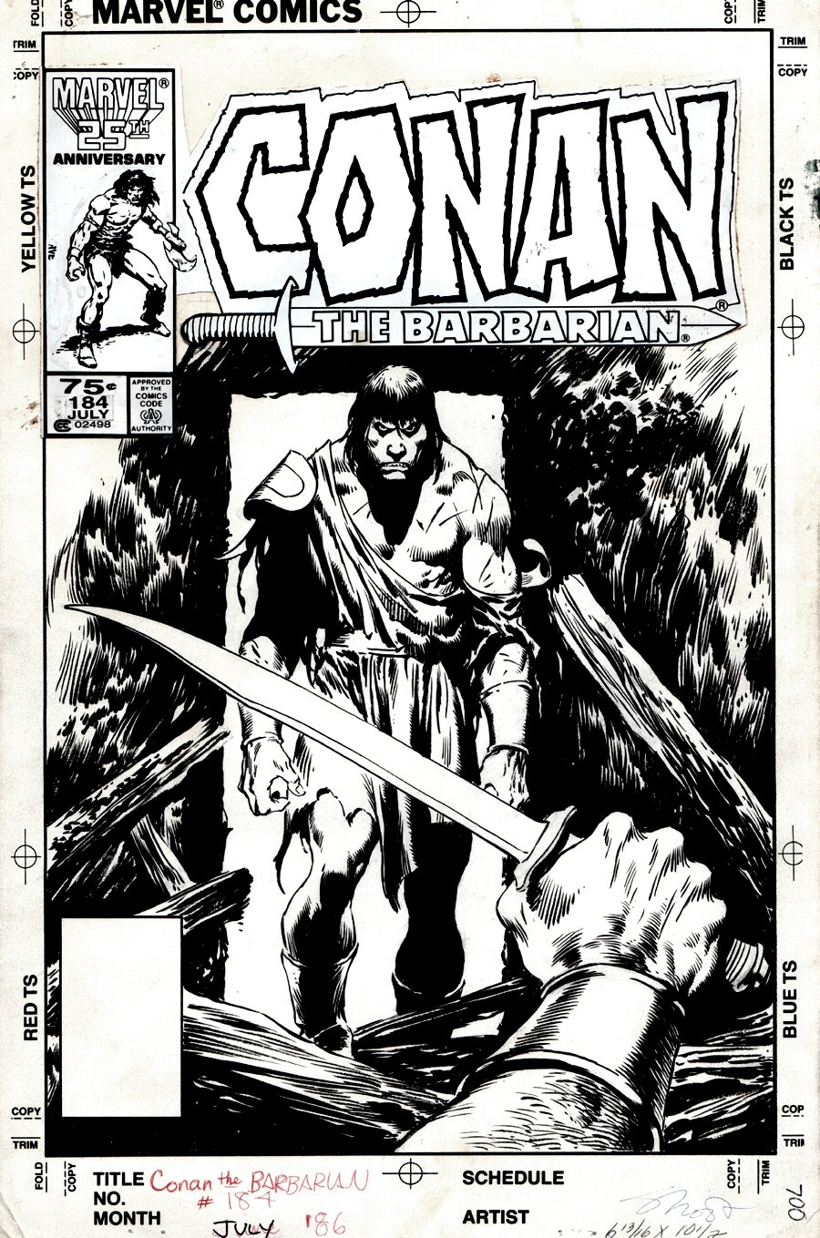 Conan the Barbarian #184 Cover (1986)