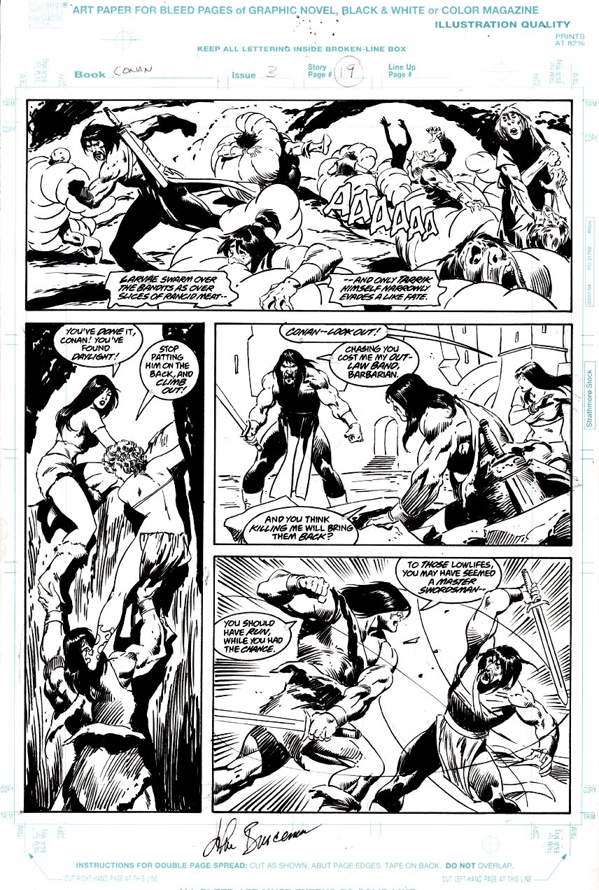 Conan: Death Covered in Gold #3 p 19 (1999)