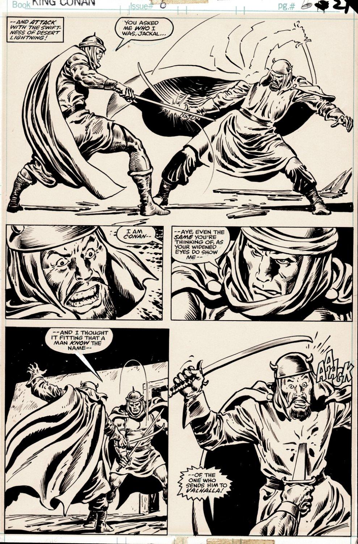 King Conan #6 p 21 (CONAN BATTLES & KILLS HAMAR KUR!) 1981