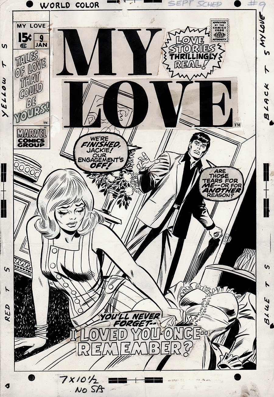 My Love #9 Cover (JOHN ROMITA SR LUSH INKS!) 1970