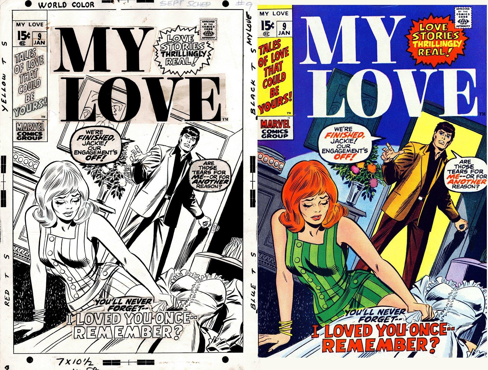 My Love #9 Cover (RARE JOHN BUSCEMA / JOHN ROMITA ART TEAM-UP!) 1970