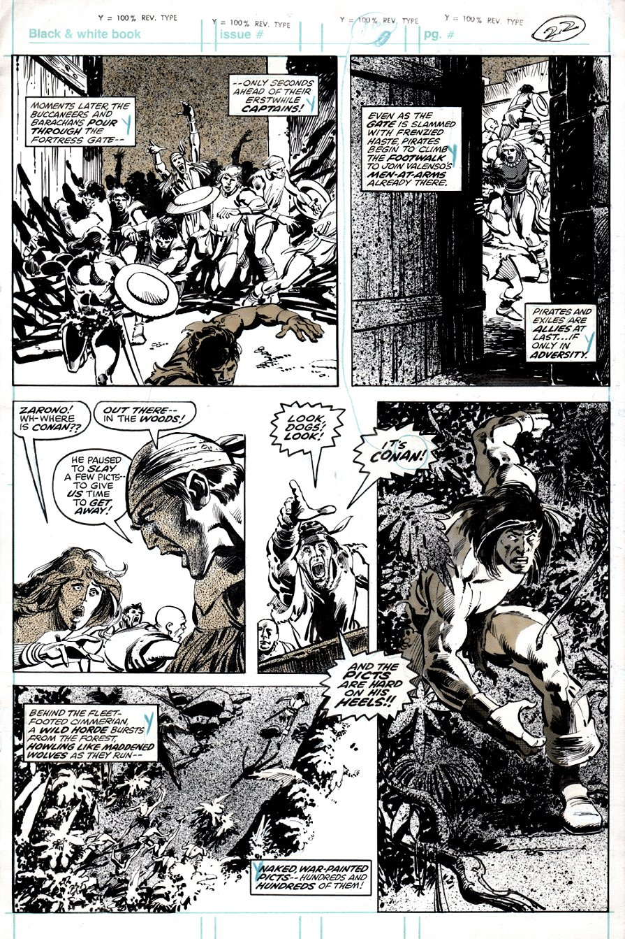Savage Sword of Conan #48 p 26 (NICE CONAN ACTION!) 1979