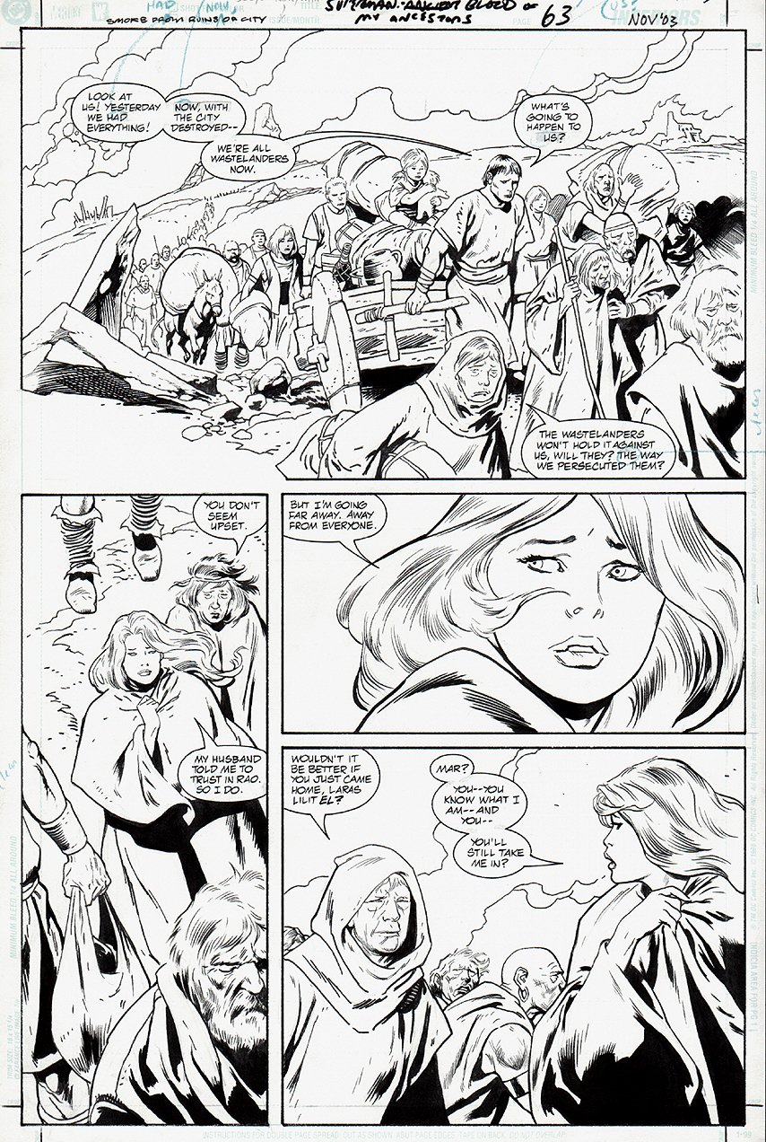 Superman: Blood of My Ancestors #1 p 63 (NEXT TO LAST PUBLISHED BUSCEMA PAGE) 2003