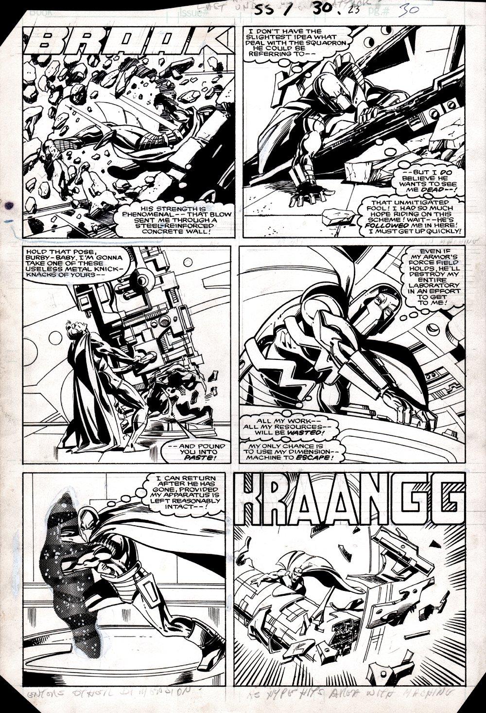 Squadron Supreme #7 p 10 (COVER SCENE! HYPERION BATTLES MASTER MENACE!) 1985