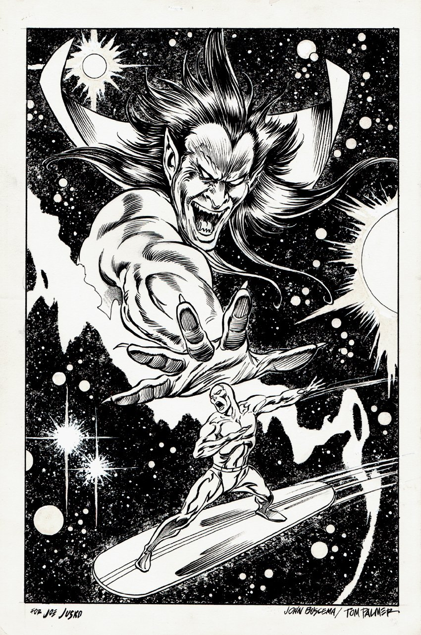 Silver Surfer: Judgment Day Line Art Cover (1988)