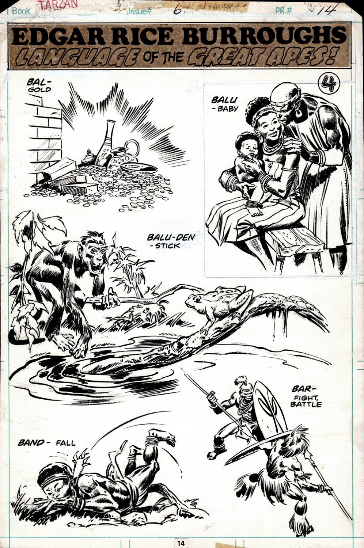 Tarzan #6 Marvel Pinup Page! (1977)