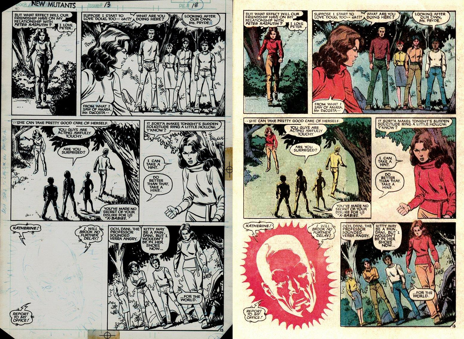 New Mutants #13 p 13 (Kitty Pryde, Danielle Moonstar, Cannonball, Wolfsbane,Sunspot!) 1983
