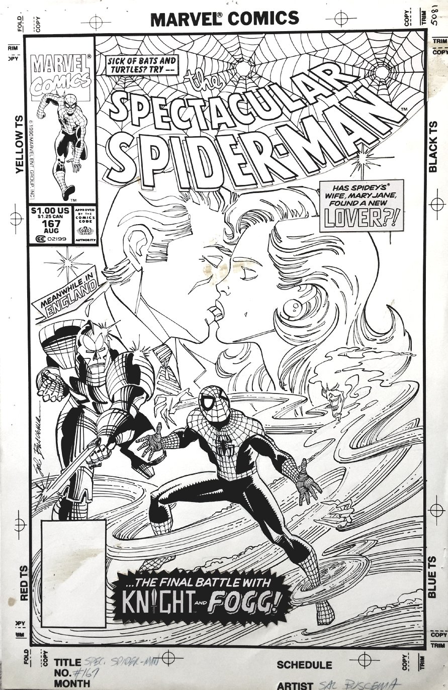 Spectacular Spider-Man #167 Cover (1990)