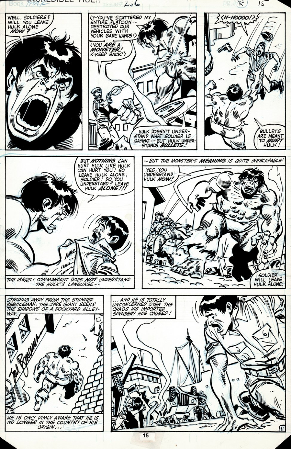 Incredible Hulk #256 p 11 (HULK BATTLES THE ISRAELI POLICE THROUGHOUT!) 1980