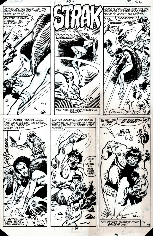Incredible Hulk #256 p 19 (HULK BATTLES THE ISRAELI SUPERHERO: SABRA, IN HER VERY FIRST APPEARANCE ISSUE!) 1980