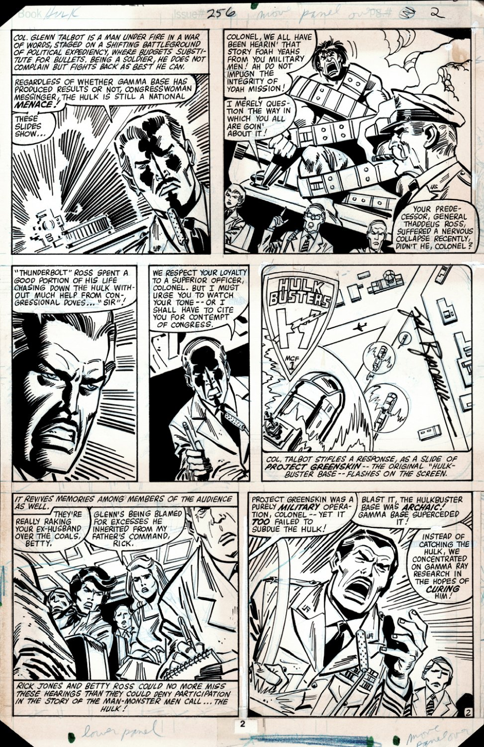 Incredible Hulk #256 p 2 (HULK IN SHACKLES, THUNDERBOLT ROSS & GLENN TALBOT!) 1980