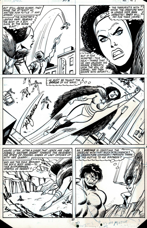 Incredible Hulk #256 p 20 (HULK BATTLES THE ISRAELI SUPERHERO: SABRA, IN HER VERY FIRST APPEARANCE ISSUE!) 1980