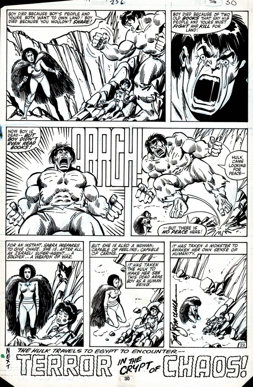 Incredible Hulk #256 p 22 (HULK BATTLES THE ISRAELI SUPERHERO: SABRA, IN HER VERY FIRST APPEARANCE ISSUE!) 1980