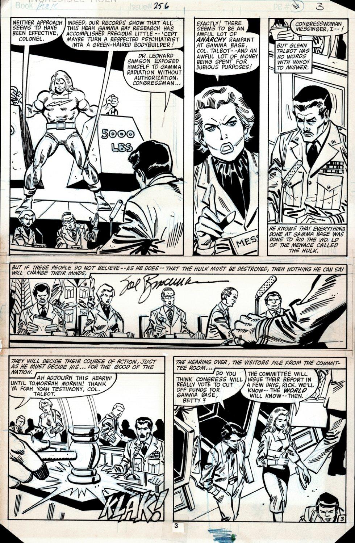 Incredible Hulk #256 p 3 (DOC SAMSON!) 1980